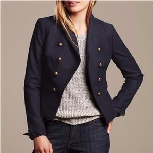 Banana Republic Black Military Short Blazer 12